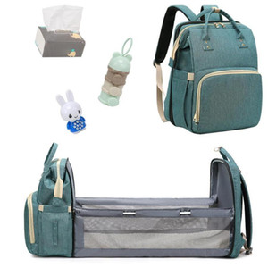 Multi-function Fashion Diaper Bag Moms and Dads Backpack Multifunctional Baby Bed Bags Maternity Nursing Handbag Stroller Bag Free Shipping