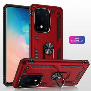 Per il caso di Samsung Galaxy S20 Ultra Armatura magnetica Anello di barretta basamento del PC duro antiurto di caso per S20, più copertura del telefono del silicone