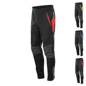 Водонепроницаемый Зимняя Термические руно Велоспорт штаны Мужчины Cycle MTB велосипед Одежда Брюки Велосипед Бег Фитнес Компрессионные чулки и колготки