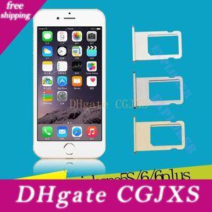 Carte SIM Plateau support de remplacement des pièces de réparation pour iPhone 4G 4S 5 5g 5c 5s 6g 6 Plus 6s 4 5 0,7 0,5