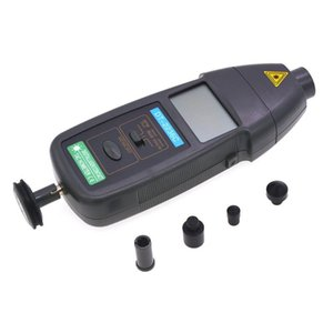 1 Hız Dedektör Metre Lazer RPM takometre LED Dijital Optik İletişim Takometre Dedektör Meter içinde DT2236C 2