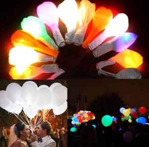 Materiali 5pcs LED Balloon palla luminosa della luce bianca 12 pollici Latex Balloon Glow festa di compleanno per le vacanze di nozze Decor
