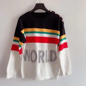 822 Kostenloser Versand 2020 Marke Gleiche Stil Pullover Pullover Langarm Rundhalsausschnitt Frauen Kleidung