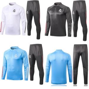 새로운 2020 2021 긴 소매 레알 마드리드 재킷 유니폼 운동복 축구 유니폼 (20) (21) 기차 축구 코트 모드리치 훈련 셔츠 정장 키트