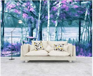 Custom photo wallpaper 3d wall murals wallpaper Fantasy hand painted forest woods mural TV background wall papers home decoration