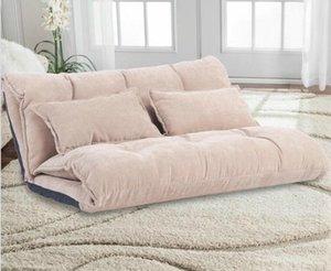 US STOCK Oris Fur. Réglable Pliable moderne Loisirs Canapé-lit de jeu vidéo Canapé avec deux oreillers WF008064DAA