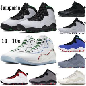 Yüksek kaliteli Erkekler 10 10s Basketbol Ayakkabı Jumpman Seattle Wings Toz Eğitmenler gri Drake ovo siyah beyaz Tinker Chicago Sneakers Soğuk
