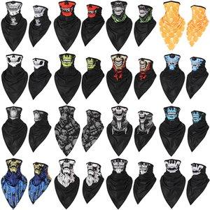 Бесплатная доставка Расширенного шелк льда быстро сушки дышащего черепа треугольник шарфа антитеррористических маски езда ветрозащитной солнцезащитной маска HM0803