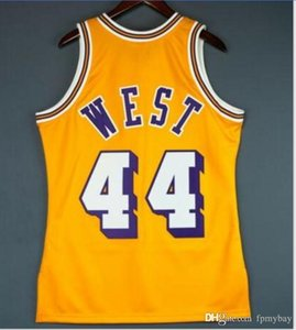 las mujeres de Hombres jóvenes Vintage Jerry West Mitchell Ness 71 72 Escuela de Baloncesto Jersey talla S-6XL o costumbre cualquier nombre o el número del jersey