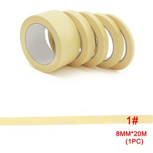 8mm / 10mm / 12mm / 18mm / 30mm Gelb Masking Spray Klebeband Modell Farbe Band Temperatur Autolack farbmaskierenden Dekoration Masking Tape