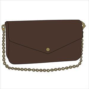 2020 New Designer Umhängetasche Tasche Damen Kette Mini Schultertasche Blumen Brief echtes Leder Qualitäts-Mappen-Handtaschen