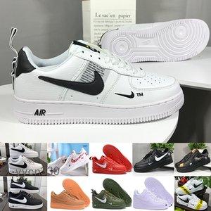 Nike Air Force 1 One Af1 العلامة التجارية 1 أداة كلاسيكي أسود أبيض دونك الرجال النساء أحذية عارضة حمراء واحدة الرياضة التزلج عالية منخفضة قص القمح المدربين احذية XXM6S