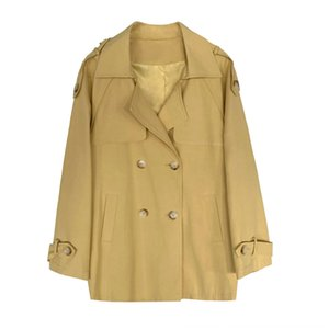 lace-up 9RAdV Curto Windbreaker trincheira 2009 Curto lace-up Windbreaker casaco trench coat 2009