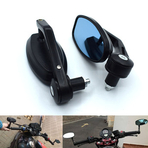 "Universal 7 8"" 22mm Motorcycle Mirrors Rear View Handle Bar End Rearview Side Mirrors Oval For SUZUKI GSXR 600 750 GSX-R 600 750"