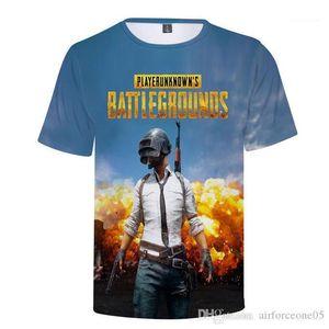 Tops Summer Boy Casual T-shirts PUBG Designer 3D Printed Hommes T-shirts à manches courtes Mens Gaming