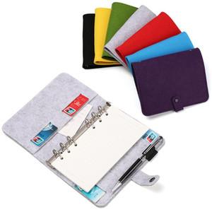Yeni A5 A6 Keçe Shell Notebook Bezi Kumaş Notebook Ring Binder Günlüğü Kağıt Tutucu Taşınabilir Günlüğü Kırtasiye Hediye
