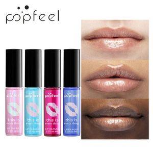 POPFEEL 1Pc Moisturizing Liquid Lipstick Lasting Pearl Polarize Transparent Lip Oil 8ml Moisturizing Waterproof Makeup Lip Blam
