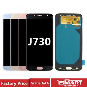AMOLED سوبر لسامسونج غالاكسي J7 برو 2017 J730 J730F LCD شاشة عرض تعمل باللمس الجمعية محول الأرقام