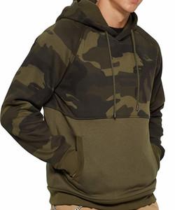 Fashion Fleece Hoodies Men Army Camo Hooded Sweatshrits Kanga Pocket Hoody Outwear Male Sportswear Super Mens Camouflage Hoodie55