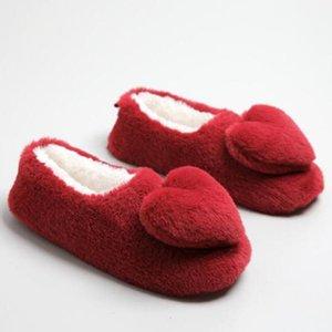Winter Warm Startseite Damen Sandaletten Cotton Schuhe Plüsch Female Boden Schuhe Anti-Rutsch-Schwangerschafts-Indoor Damen Startseite Slipper sh524