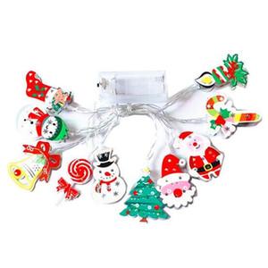 Yeni LED Kardan adam Işık Dize Noel ağacı Işık Dize Çorap Noel Dekorasyon Işık USB ve Batarya şerit led ışıklar