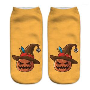 Breathable kurze Socken beiläufige Strumpfwaren Mehr Arten Halloween-Reihe Womens Designer-Unterwäsche 3D Printed Frauen Socken
