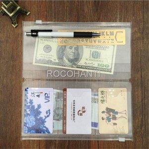الدفتري 20PCS المسافر جواز السفر مجلة عبوة حشو زيبر حالة واضحة PVC اسم بطاقتنا الفاتورة ورقة ملاحظة حقيبة جيب EpZa #