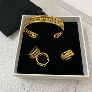 2020 new high quality luxury designer jewelry set famous brand earrings ring bracelet for fashion women girl party gift jewelry