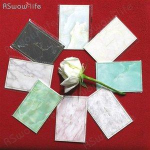 Simple 35pcs Mini Jaspeado Oro tarjeta Mini Estampación creativo Tarjeta de felicitación Tarjetas de cumpleaños de la boda Deseos de Navidad # Npgx