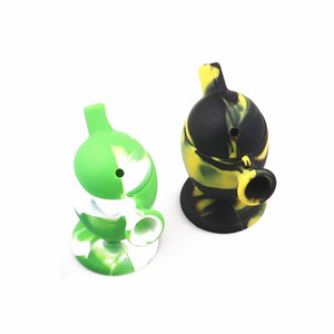 dab rig Silicone bong mini bong easy to carry Removable Smoking Accessories genius design three different colors dab rig