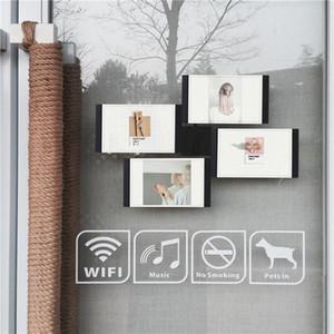 Multi-châssis Blanc Noir bricolage Cadres Home Décor transparent multifonctions Accueil outil Cadres photo Set avec Nail LRVZ #