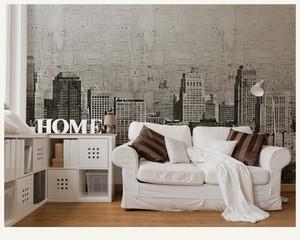Bacal Vintage Bina Siyah ve Beyaz Şehir Duvar Duvar Resmi Resimleri Wallpaper Arkaplan Büyük Papel Duvar Resmi Duvar Kağıdı 3D 3D