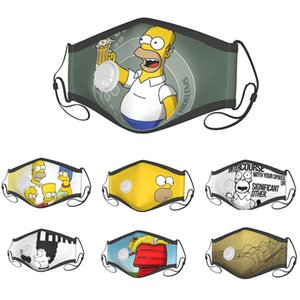 face mask kids face mask breathing valve masks The Simpsons animation printing dustproof and breathable mask