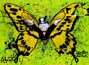 Alec Monopoly Large Graffiti art Butterfly Wall Decor Handpainted &HD Print Oil Painting On Canvas Wall Art Canvas Picture 200822