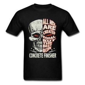 Finisseur de béton Deviens vélo Crâne vintage O T-shirt col été personnalisé T-shirts 100% coton réduction moto T-shirts pour hommes