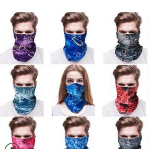 Outdoor Cycling Scarf Multi-function Head Scarf Seamless Headband Scarf Bandanas Masks Skeleton Magic Scarves Party Favor IIA510