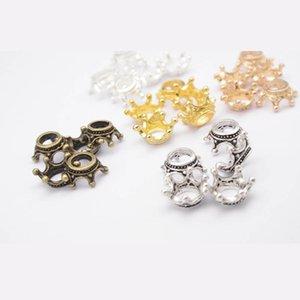 20pcs Crown Ends Bead Caps Antique Bronze Color Spacer Beads Cap For Necklaces Bracelets Making Findings DIY Alloy Accessories