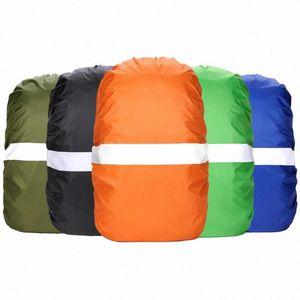 Ajustable impermeable a prueba de polvo mochila bolsa de polvo reflectante cubierta de la lluvia oEBh #