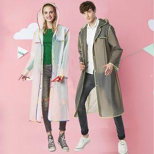 y de moda wo Wo Moda senderismo transparente de color eva ribete adultos hombres y de los hombres de moda de las mujeres Las mujeres forman el impermeable senderismo t