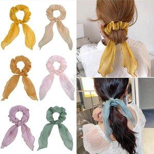 Supporto dell'anello elastico dei capelli Grenadine Scrunchies Donne Nastri Fascia per capelli Designers Coda di cavallo D9310 elastiche ragazze Hairbands Accessori per capelli caldo