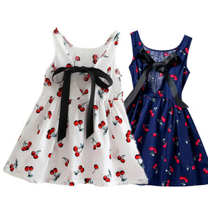 Summer Baby Girls Dress 1 Year Birthday Party Cherry Print Infant Party Princess Baby Dress Vestidos Toddler Girl Casaul Clothes