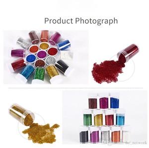 12 Farben Glitter-Shake-Gläser Slime Supplies Powder Pailletten für Kunst Crafts Extra-Solvent Resistant Schüttler