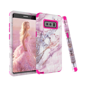 Для Samaung Примечание 8 Case Marble Defender Case Heavy Duty Hybrid Full-Body Защитная крышка телефона Чехлы для Samsung Galaxy Note 8
