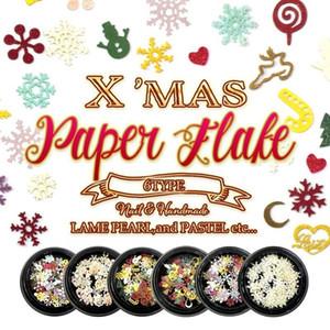 Prego Natal Forma Acessórios polpa de madeira do floco de neve Papai Noel Amor misturado DIY Fototerapia Nair Art Decals