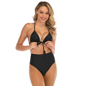 Women's Three-point Swimsuit, Summer Fashion Two-piece Bikini Suit with L Letter Beach Trendy Swimsuit Size M-XL