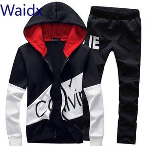 Waidx Männer Sets Sport-Klage-Trainingsanzug Outfit Anzug 5xl 2-teiliges Set Anzüge Hoodies lange Hosen Warm Herrenkleidung Drop Shipping