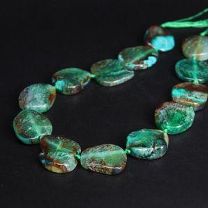 New!!! 11-13PCS strand Green Irregular Slab Nuggets Crack Raw Agates Beads,Natural Onxy Stone Slice Pendants Craft Jewelry CX200815