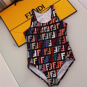 new best selling high end one -piece swim baby girls jumpsuits Classic lattice swimwear girl swimsuit kids beach clothing