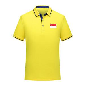 2020 Singapur Nationalmannschaft Männer Fußball-Polo-Hemd Fußball Short Sleeve Polo Mode Sport Training Polos Fußball-Fußball-T-Shir