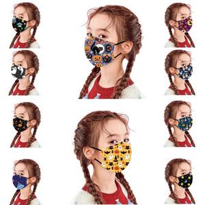 10 Arten Halloween Kinder Gesichtsmaske staubdicht Anti-Fog-PM 2.5 einstellbar waschbar Kinder Schutzmaske China Großhandel